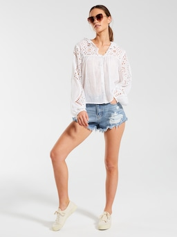 Emmy Embroidered Top