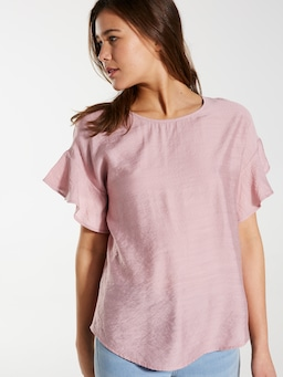 Harmony Short Sleeve Frill Top