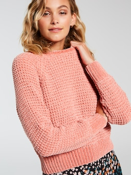Chenille Crop Knit