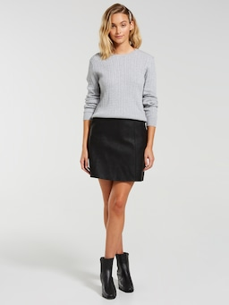 Long Sleeve Cotton Cable Jumper