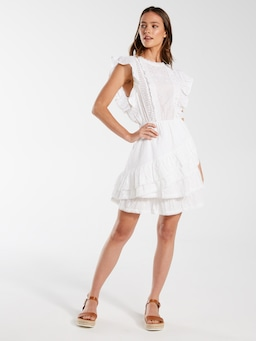 Tiered Broderie Dress