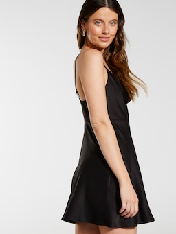 Cowl Neck Mini Dress