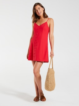 Linen Blend Elle Tunic Dress