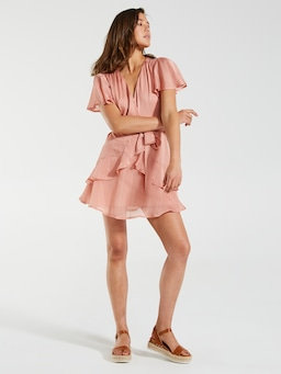 Siren Ruffle Mini Dress