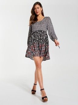 Tiered Long Sleeve Dress