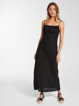 Linen Blend Tuscany Slip Dress