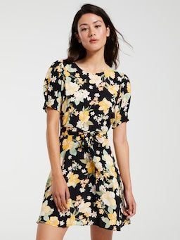 Polly Short Sleeve Tea Dress
