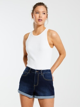 Chloe Recycled Denim Short