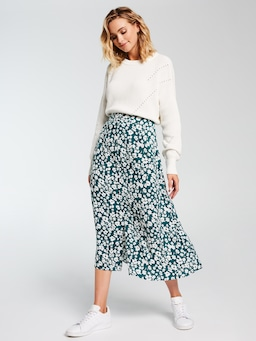 Nineties Button Midi Skirt