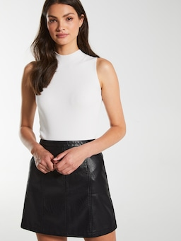 Lola Faux Leather Mini Skirt