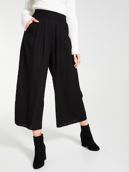 Linen Blend Everly Culotte