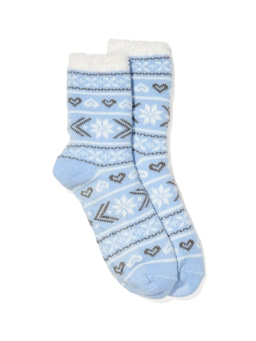 Fairisle Plush Lined Bed Sock