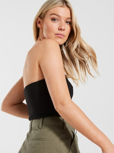 Strapless Rib Tube Top