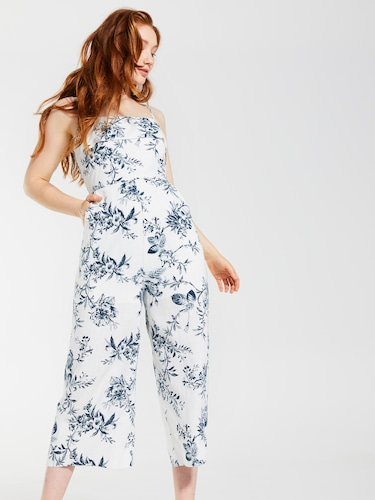 Square Neck Frill Jumpsuit